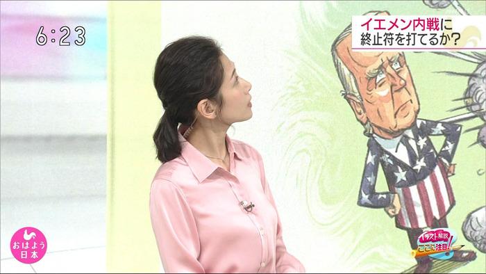 桑子真帆アナの横乳