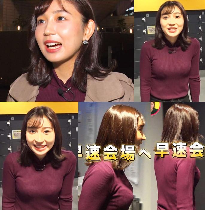 【画像】MBS野嶋紗己子アナがお○ぱいを揺らして初体験! ※GIFあり