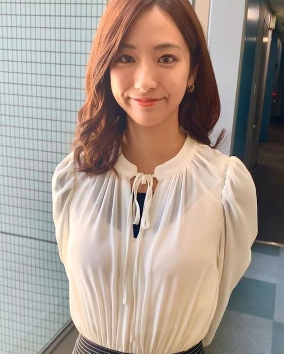 田村真子アナのノースリーブおっぱい