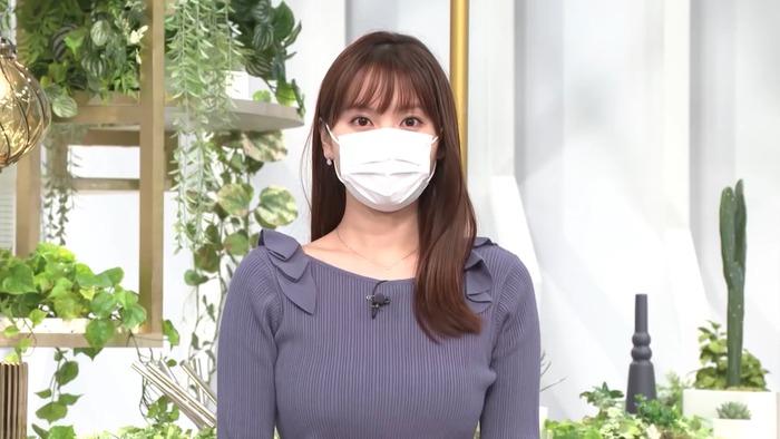 角谷暁子アナのおっぱい