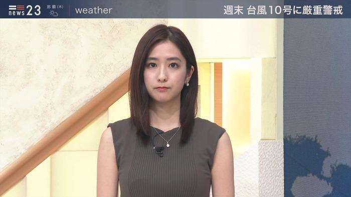 田村真子アナのノースリおっぱい