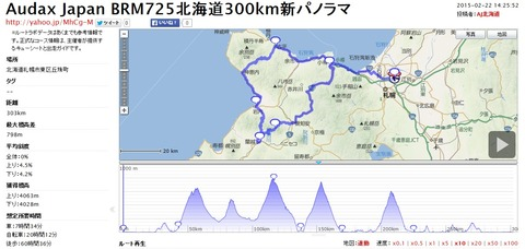 BRM725北海道300km新パノラマ