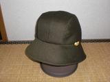 カーキ帽子1