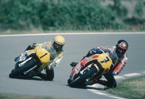 Barry Sheene en Kenny Roberts 1978