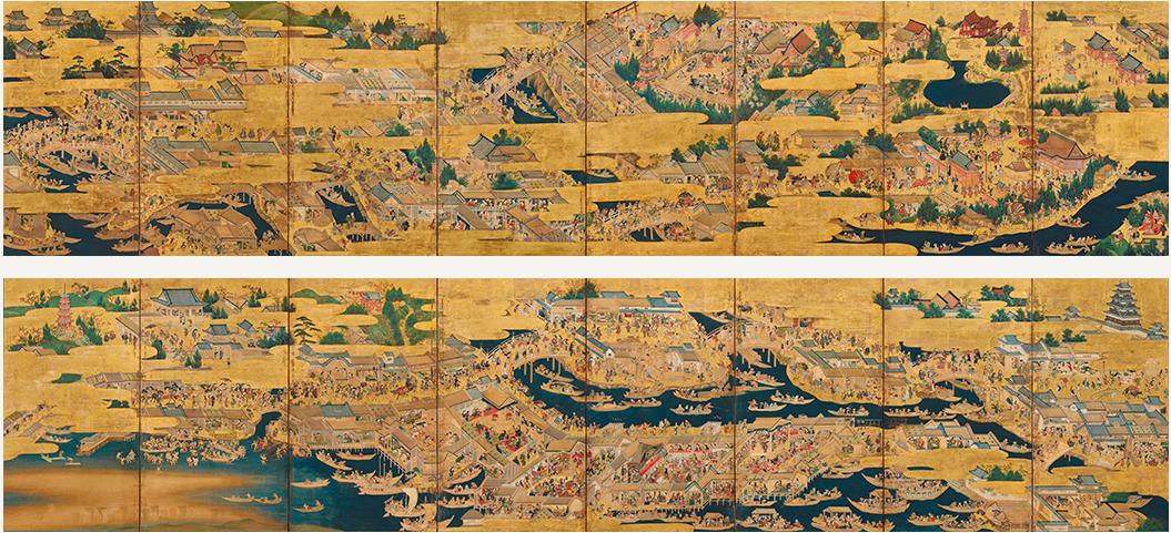 「江戸名所図屏風」と都市の華やぎ | 取材レポート …