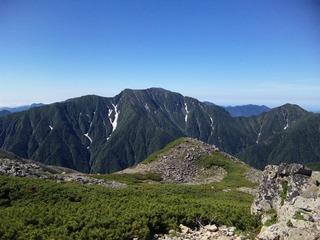 百間平より聖岳(25日)