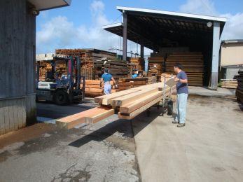 木材の旅立ち