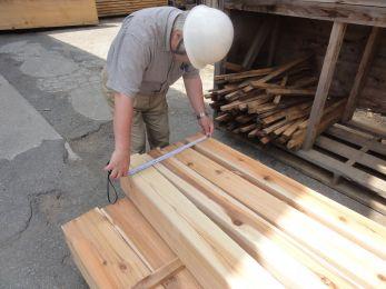 木材検査と工程会議