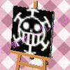 ハート海賊団の旗とびだせどうぶつの森マイデザインQRコード