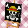 麦わら海賊旗とびだせどうぶつの森マイデザインQRコード