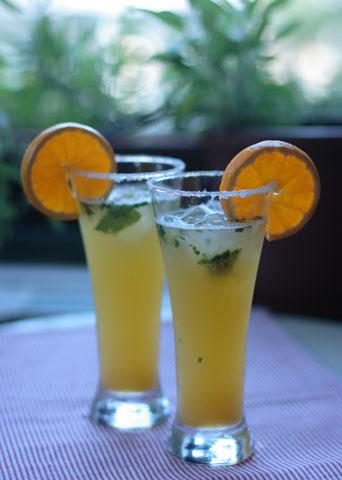 オレンジ・ライム・ソーダとチリペッパー・ソルト
