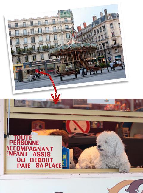 フランス旅行:リヨンのメリーゴーランド犬