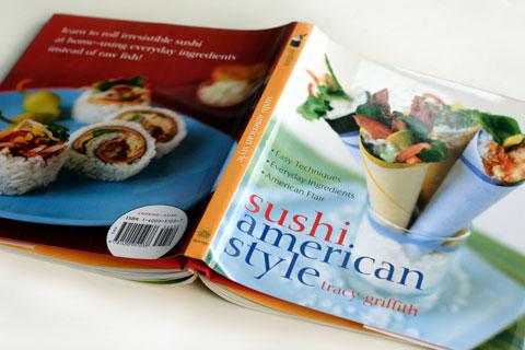 創作寿司の本:sushi american style