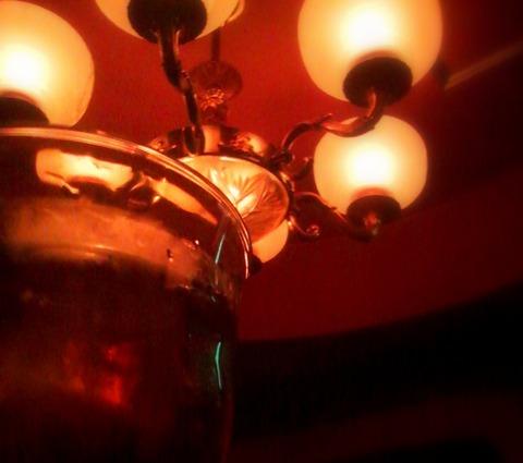 コーヒー焼酎とシャンデリア