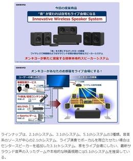 オンキョーのワイヤレス5.1chシステム