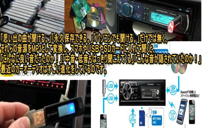 思い出のカセットテープやMDの曲をMP3のデジタルデータに変換