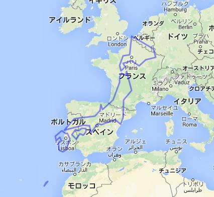 結構大きい 日本の国土面積(欧州地図の上に配置)2