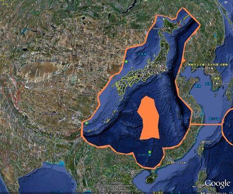 結構大きい 日本の国土面積(中国大陸を含める)