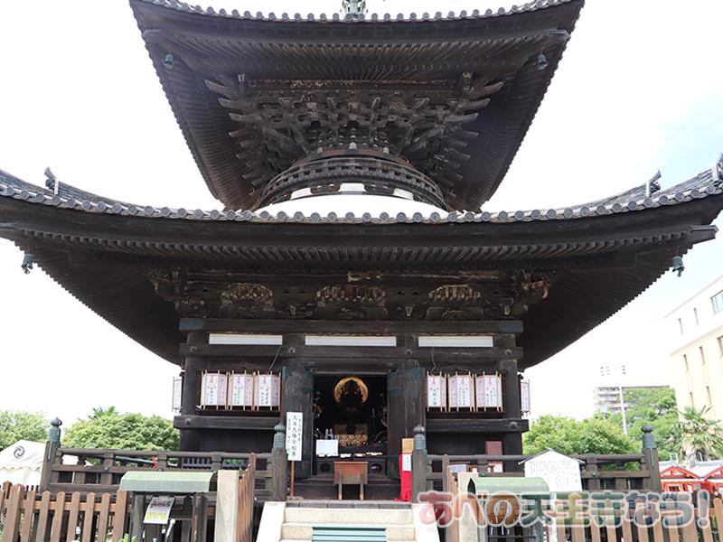 愛染堂・勝鬘院の多宝塔