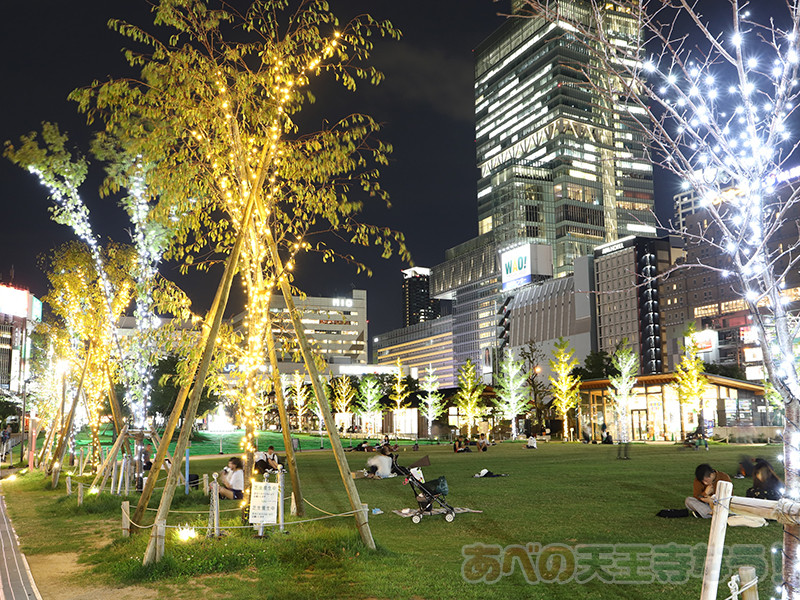 天王寺公園「てんしば」のイルミネーション