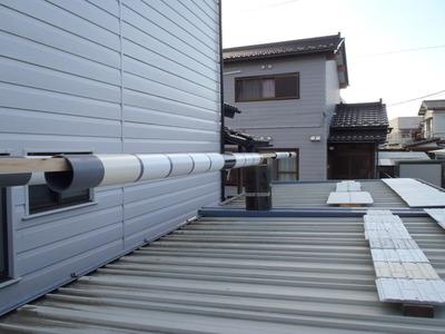 屋根へ設置