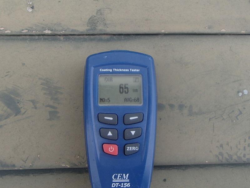 トタン屋根 塗膜 測定