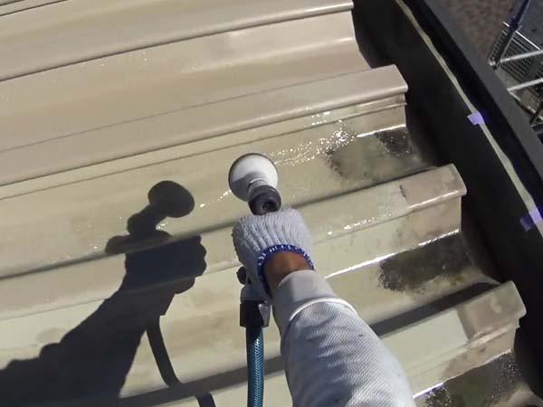折板屋根 水洗い 手洗い