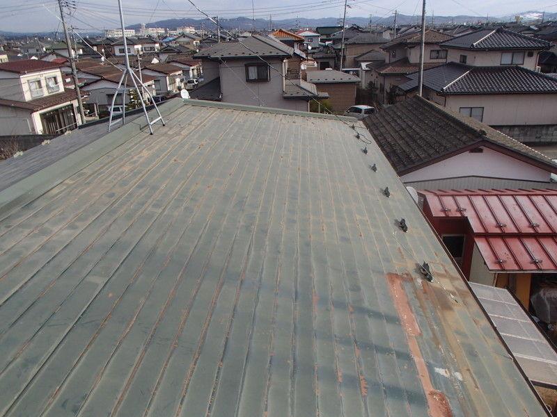 トタン屋根 現場調査