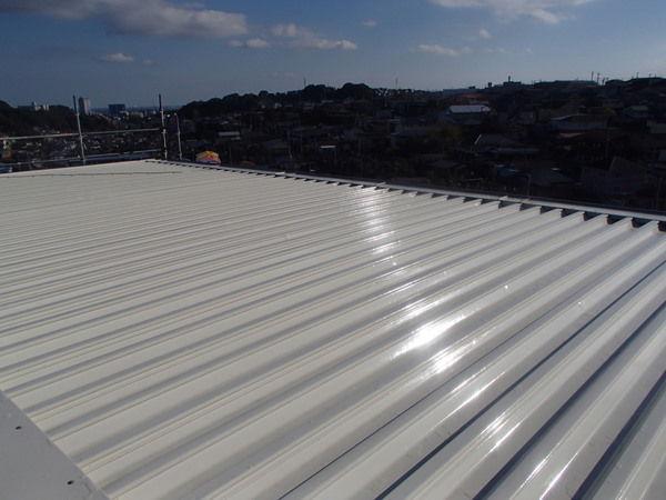 折板屋根塗装 セキスイハイム 仙台市 塗り替え