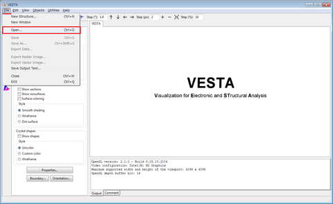 VESTA_File_Open