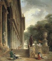 Colonnade et jardins du Palais Medici