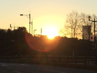 皇居からの日の出