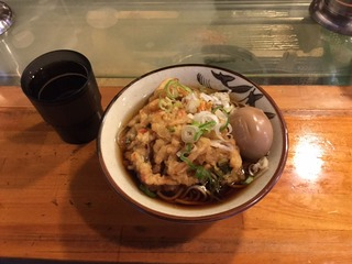 天ぷらそば味玉