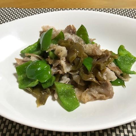 豚肉とピーマンの搾菜炒め