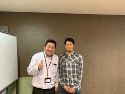 高橋義希選手とツーショット(2018.12.4)