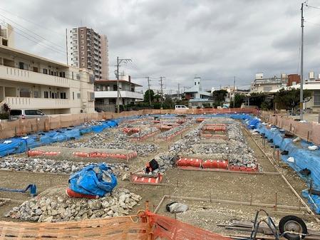 沖縄 建築現場