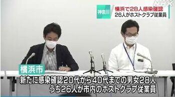 横浜市で28人感染 うち26人が同じホストクラブの男性