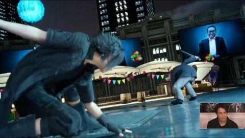【悲報】FF15、前夜祭の生放送の為に制作したゲームでラスボスに社長を登場させ持ち上げる