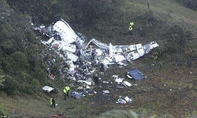 【訃報】プロサッカーチームが巻き込まれたコロンビア墜落事故、元J選手4人と監督の死亡が確認…