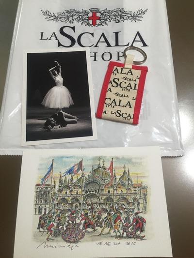 イタリア土産スカラザカード