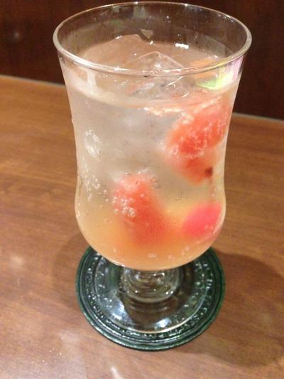 グレープフルーツ&生姜酢ソーダ