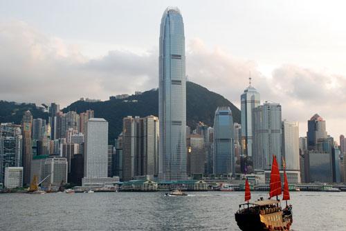 香港島昼間