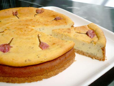 桜ベイクドチーズケーキ