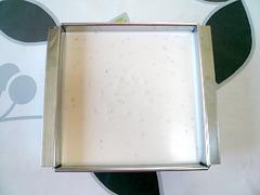 桜レアチーズ【6】レアチーズを固める