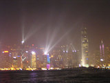 香港夜景去る光線