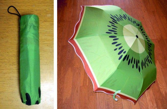 キウイ柄の傘_t