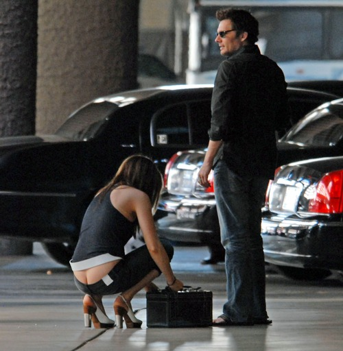 Kate Beckinsale - ass crack 2010 at airport