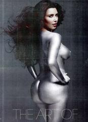 Kim Kardashian - NUDE - W Magazine painted silver 03