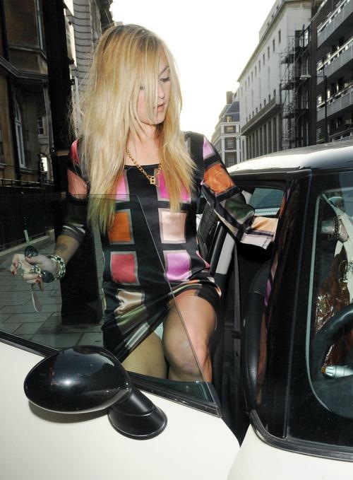 Fearne Cotton - Upskirt outside Radio 1 Studios
