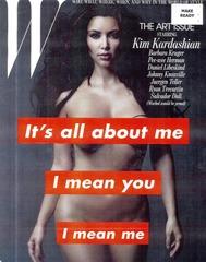 Kim Kardashian - NUDE - W Magazine painted silver 01
